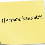 Bedankje Harmen